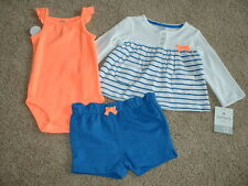 Carters Size 18 months 18M Summertime Sweetie 3pc Set Clothes NWT NEW Baby Girls