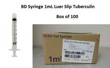 100 Units BD Syringe 1mL Tuberculin Luer Slip - Single Use Disposable