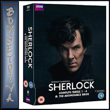 SHERLOCK - SERIES 1 2 3 & 4 PLUS THE ABOMINABLE BRIDE * BRAND NEW DVD BOXSET***