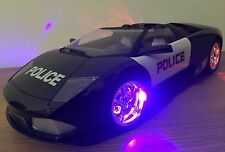 LARGE RECHARGEABLE LAMBORGHINI MURCIELAGO POLICE Radio Remote Control Car 1:10