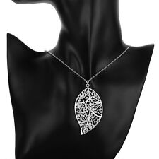 Wholesale 925 Silver Filled Necklace Leaf Pendant Women Fashion Jewelry Gift