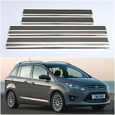 Ford Grand C-Max (10 ) Stainless Steel Kick Plate Car Door Sill Protectors K136S