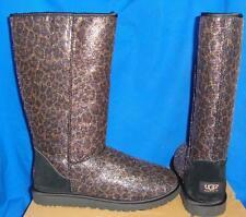 UGG Australia Classic Black Tall Glitter Leopard Boots Size US 9 EU 40 NIB