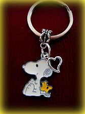 Peanut's SNOOPY the Dog and WOODSTOCK with Heart KEYCHAIN Jewelry  Charlie Brown
