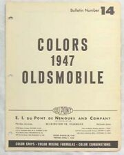 1947 OLDSMOBILE DUPONT AND SHERWIN WILLIAMS COLOR PAINT CHIP CHARTS ALL MODELS