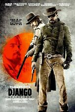 Tarantino DJANGO UNCHAINED 27x40 DS RARE Poster Waltz DiCaprio - THE D IS SILENT