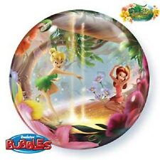 """NEW Disney Tinkerbell 22"""" Qualatex BUBBLE Balloons Birthday Party Supplies~"""