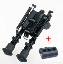 "6"" - 9"" Harris Style Bipod 50 Degree swivel tilt-level Pivot w/Sling Mount Rail"