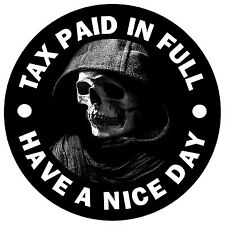 SKULL SCARY - FUN CAR STICKER / DECAL - REPLACE OLD TAX DISC + 1 FREE - NEW GIFT