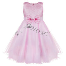 Sequined Flower Girls Princess Party Pageant Wedding Bridesmaid Tutu Shiny Dress