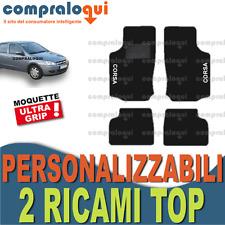PER OPEL CORSA C (00-06) TAPPETINI per AUTO tappeti MOQUETTE + 2 RICAMI TOP