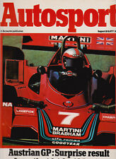 Autosport 18 Aug 1977 - Austrian Grand Prix Alan Jones, Ten Years Formula Ford