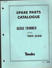 1988 & EARLIER TANAKA HEDGE TRIMMER MODEL THT-230 PARTS MANUAL