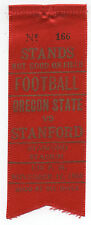 1960 College Football Ribbon Stanford University vs Oregon State