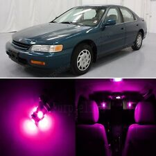 10 x Super Pink Lights Interior Package For Honda ACCORD 1994 - 1997 Coupe Sedan