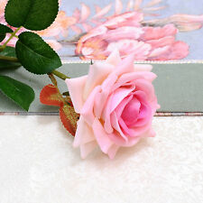 New Artificial Rose Silk Flower Leaf Home Wedding Decor Bridal Bouquet