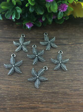 Wholesale 8pcs Tibet silver Starfish Charm Pendant beaded Jewelry Findings B21
