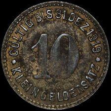"""NOTGELD: 10 Pfennig 1919 Bergbau-Zulieferer """"Wagner & Englert"""". METTMANN (RHPR.)"""