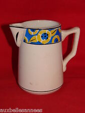 ANCIEN POT A LAIT ART DECO FAIENCE DE ST AMAND / CERAMIQUE