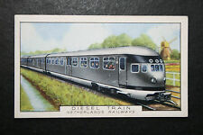 Netherlands Railways  Diesel Unit   1930's Vintage Card  VGC