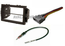 Complete Double Din Car Stereo Dash Install Kit W/ Wiring Harness & Antenna Wire