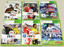 6 xbox 360 jeux collection FIFA 09 10 11 12 pes 2012 2011 Football Football (15)