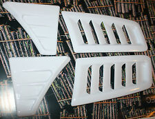 FORD FOCUS MK 2 RS Style BONNET VENTS ABS plus WING VENTS NEW!! WHITE