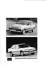 ROVER MG METRO AND ROVER 200 PRESS PHOTO 'BROCHURE' CONNECTED