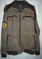 RAWBLUE The Denim Kruz Since 1983 - Men's 100% Cotton Brown Plaid Jacket Size XL