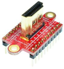 HDMI Type A Male socket Breakout Board, adapter,  eLabGuy HDMI-AM-BO-V1AV