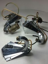 SUPER RARE - Set of 3 BARGMAN 150 Vntg Art Deco Travel Trailer Lamp/Light/Sconce