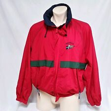VTG Nautica Sailing Jacket 90's Flag Colorblock Competition Challenge Coat Large