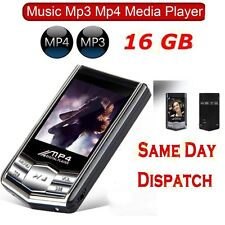 16GB MP3 MP4 4TH GENERATION SLIM MUSIC MEDIA PLAYER LCD SCREEN FM MOVIE VIDEO