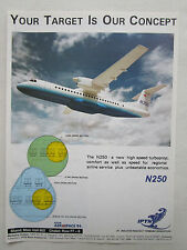 2/1994 PUB IPTN N250 INDONESIA REGIONAL AIRLINER AIRLINE ASIAN AEROSPACE AD