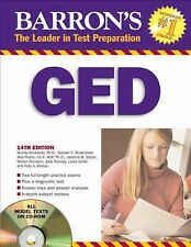 Barron's GED (Book & CD-ROM)-ExLibrary