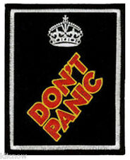"""DONT PANIC EMBROIDERED PATCH 8CM X 10CM (3""""X 4"""")"""