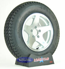 "Boat Trailer Tire by LoadStar ST 205/75D/15 5 Star Aluminum Wheel 15"" 5 Lug"