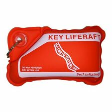 RED Self Inflating Keyring 'Key Liferaft' - Supports up to 60g !