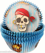 Pirate Baking Cups 50pcs Cupcake Deocrations Pirates Party Supplies