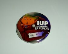 """1 UP BOX OCTOBER 2016 HORROR 1"""" BUTTON PIN BACK"""