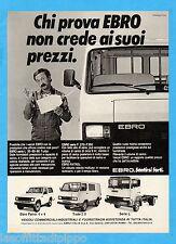 QUATTROR985-PUBBLICITA'/ADVERTISING-1985- EBRO - VEICOLI COMMERCIALI/INDUSTR.