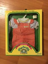 NIB! Cabbage Patch Kids Red & White Checked Overalls with White Shirt Outfit
