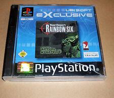 Playstation 1 Spiel Game - Rainbow Six ( 6 ) - Deutsch komplett PS1