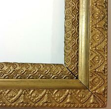 Antique Frame Gold Gilt Gesso Wood Early 1900s Fluted Cove 20x16 16x12