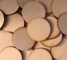5x 50mm Round MDF Wooden Bases Laser Cut Miniature FAST SHIPPING US SELLER