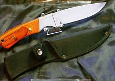 Large Sportsman's Knife Hunting Knife Golden Spike W/Original Canvas Sheath