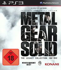 Metal Gear Solid: The Legacy Collection (Sony PlayStation 3, 2013, DVD-Box), Neu