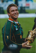John SMIT Signed Autograph 12x8 Photo AFTAL COA RUGBY South African Legend