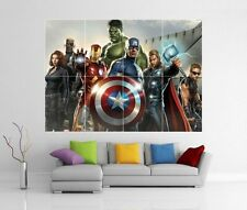 THE AVENGERS ASSEMBLE MARVEL IRON MAN HULK THOR GIANT WALL ART PRINT POSTER H48