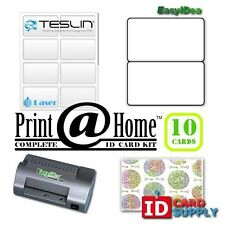 Complete Print @ Home Kit   Makes 10 PVC Like ID Cards   for Laser Printers